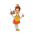 fast food waitress vector image