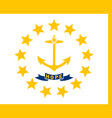 flag of the usa state of rhode island vector image vector image