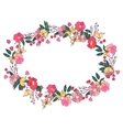 Floral wreath made of wildflowers vector image