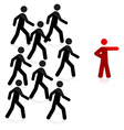 follow leader vector image vector image