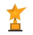 Golden star award on white vector image vector image