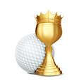 golf award ball golden cup banner