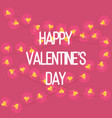 greeting card of happy valentines day vector image vector image