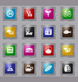 grocery store glass icons set vector image