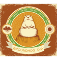 groundhog day label vector image vector image