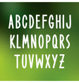 Hand drawn font type alphabet vector image vector image