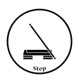 Icon of Step board and stick vector image vector image