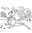 Kangaroo Coloring Pages vector image