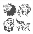 Lion head griffin fyl bear tattoos and designs vector image vector image