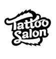 logo tattoo salon vector image vector image