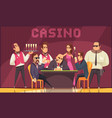 luxury casino indoor background vector image vector image