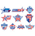 made in usa labels quality warranty certificate vector image