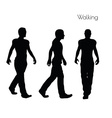 man in Walking pose on white background vector image vector image