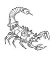 mechanical scorpio animal engraving vector image vector image