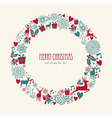 Merry Christmas elements decoration circle shape vector image vector image