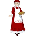 Mrs Santa Claus Mother Christmas character vector image vector image