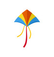 new kite icon flat style vector image