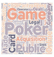 online poker3 text background wordcloud concept vector image vector image