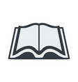 open book icon in a flat style isolated on vector image