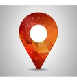 polygon pin with map icon vector image