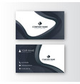 polygonal creative professional business card vector image vector image