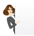 pretty businesswoman vector image vector image
