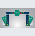 printexhibition stand gate entrance with for mock vector image