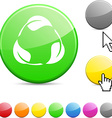 Recycle glossy button vector image vector image