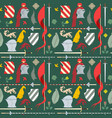 seamless medieval pattern with things for knightly vector image vector image