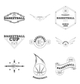 set basketball logo for team and cup vector image
