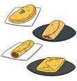 set of omelette vector image