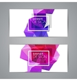 Set of polygonal triangular colorful background vector image vector image
