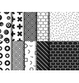 set trendy various geometric seamless pattern vector image vector image