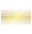 shipment van golden halftone pattern vector image