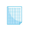 silhouette grid sheet to study and write vector image