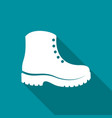 simple white boots icon vector image vector image