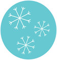 Snowflake icon label vector image vector image