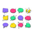 speech bubbles collection - set comic retro vector image vector image