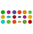 sport balls icon set color outline style vector image vector image