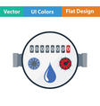 Water meter icon vector image