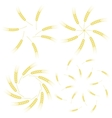 Yellow Ears of Wheat Icon Set vector image vector image