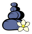 zen basalt stones icon icon cartoon vector image