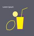 Lemon and glass of juice vector image