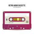 retro audio cassette detailed retro c90 vector image