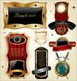 set of golden luxury frames vector image
