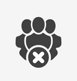professional services icon with cancel sign vector image