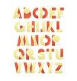 Retro font in red and yellow Beige alphabet with vector image
