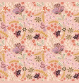 abstract flowers seamless pattern floral vector image vector image