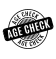 Age Check rubber stamp vector image