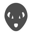 alien solid icon humanoid vector image
